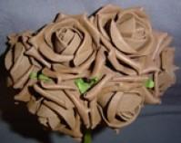 Foam Rose - Medium Bud - Brown
