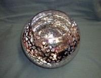 Glass Fish Bowl - Silver Floral