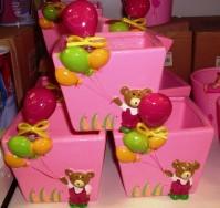 Bear and Balloon - Pink