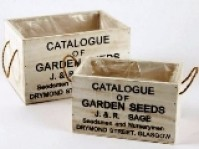 Wooden Seed Boxes - Set of 2