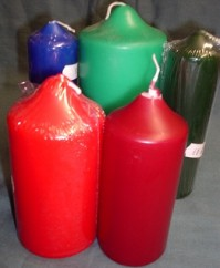 Chapel Candles - Coloured
