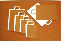 7 x 10.5 x 8.5 inch Paper Carriers Brown - Tape handles