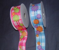 Wired Edge Satin - Gerbera - 40mm x 15m
