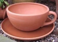 Terracotta Cup and Saucer